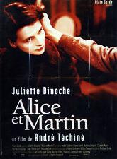 Affiche 40x60cm ALICE ET MARTIN (1998) André Téchiné - Juliette Binoche NEUVE