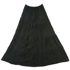 Big Bohemian Tier Long Cotton Skirt Boho Hippie Black up to 38 inches sk167d1