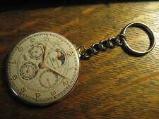 IWC Schaffhausen Keychain - RePurposed Watch Ad Backpack Purse Clip Ornament