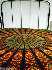 King Hippie Mandala Tapestry Indian Wall Hanging Bedspread Bedcover Bohemian UK