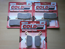 GOLDFREN FRONT & REAR BRAKE PADS (3x Sets) for TRIUMPH 675 DAYTONA (AD296 AD020)