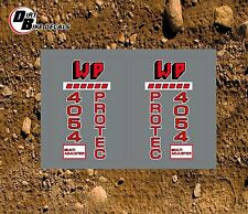 WP 5054 PROTEC ON CLEAR UPPER FORK  MOTOCROSS DECALS STICKERS GRAPHICS