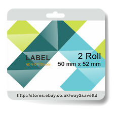 2x Compatible Zebra 50 x 52mm White Direct Thermal Labels 2000 Labels per Roll