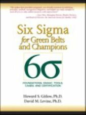 Six Sigma for Green Belts and Champions : Foundations, DMAIC, Tools, Cases,...