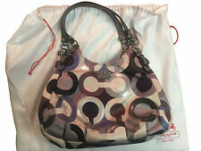 Coach Madison Graphic Op Art Maggie Shoulder Bag Tote Satchel Sequin Multi