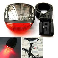 Solar Power LED Rear Flashing Tail Light for Bicycle Bike Cycling Lamp Safety SS