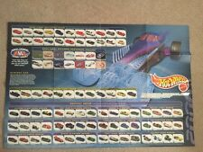 RARE 2000 HOT WHEELS FACTORY POSTER WITH TREASURE HUNTS LISTED First Editions
