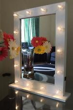 HOLLY WOOD LED VANITY WHITE LED DRESSING TABLE MIRROR MAKE UP MIRROR 40*50CM