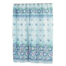 "Oceanic Fabric shower curtain, 100% polyester, Size in"" 70x72 Color Blue FSC-OC"