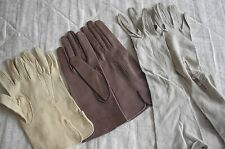 JOB LOT VINTAGE LEATHER KID SKIN GLOVES LADIES SIZE 6 - 8