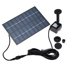 Anself water pump garden fountain 1.8W solar power submersible pump for garden