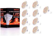 9X GU5.3 MR16 LED Lampe von Seitronic 3,5 Watt, 280LM 60 LEDs Warm weiß 2900K