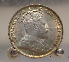 1902 Canada Silver 5 Cents, Old Sterling Silver World Coin