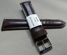 New ZRC France Brown Padded Water Resistant 20mm Watch Band Chrome Buckle $24.95
