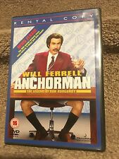 ex-Rental Anchorman The Legend of Ron Burgundy Will Ferrell PAL R2 DVD L@@K