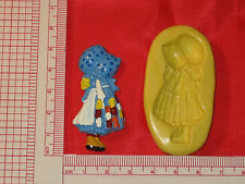 Bonnet Girl Silicone Mold Fondant Cupcake Clay Candy A778 Chocolate Decoration
