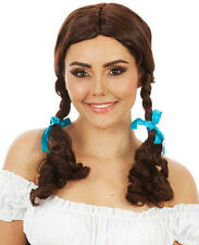 ADULT Dorothy Wizard of Oz Pigtails Brown Costume Wig