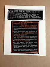 Honda 350X Tank Warning Sticker 1986 ATC350X  350X ATC Reproductions Decal
