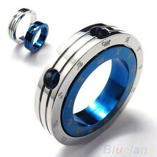 Mens Stainless Steel Constellation Ring Pendant Necklace BF4U