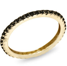 Real 0.20ct Black Diamond 9ct 375 Solid Gold Never Ending Ring - Bravo Jewellery