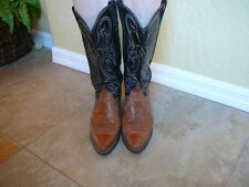 Dan Post Reptile Leather Cowboy Boots Made In USA Mens Size 8.5