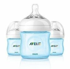 Philips AVENT Natural Bottle Set, 3 Pack - 4oz (Boy Colors)