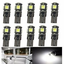 50 X White Canbus Error Free Car T10 W5W 194 168 2825 LED5 smd Wedge Light Bulb
