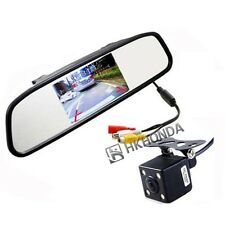 """4.3"""" inch Car Reversing Mirror Display Monitor + 4LED CCD rearview camera"""