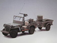 1:18 Autoart Jeep Willys (Army Green) (with tráiler/Accessories included) 1943