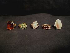 Vintage AVON COSTUME JEWELRY ring w/stone LOT OF 5