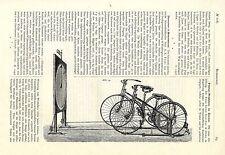 Fahrrad- Wettfahrten im Zimmer Firma Ernst Strecker & Dame in Magdeburg von 1891