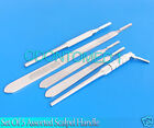 Set of 5 Assorted Surgical Scalpel Blade Handles Flat & Round #4 #4L
