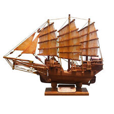 Handmade Wooden Traditional Chinese Junk Ship Model 35 cm
