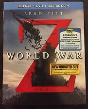 WORLD WAR Z BLU RAY + DVD BEST BUY EXCLUSIVE SLIPCOVER FREE SHIPPING REGION FREE