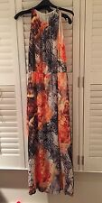 Butterfly Wing Print Dress Maxi H&M Size 8