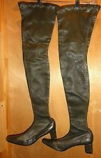 VERO CUOIO LEATHER HIP HIGH BOOTS MADE IN ITALY EURO SIZE 40 SUPER SOFT