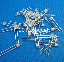 100PCS LED Diode 3MM white COLOR BLUE LIGHT Super Bright