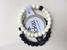 New Lokai Bracelet Black & White Pair Set Size Small