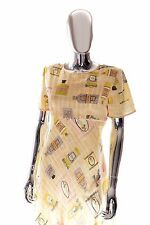 Kay Unger 100% Silk Garden Party Cruise Wear Dress with Perfume Bottle Print 10