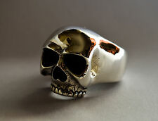 """Keith Richards"" Huge Solid 925 Sterling Silver Skull Ring Size U (US 10) 26g"