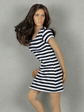 1/6 Phicen, Hot Toys, Kumik, Cy, NT - Female Black & White Stripes Mini Dress