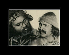 Cheech and Chong's comedy duo cannabis drawing from artist art Image picture
