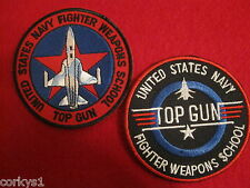 "United States Navy ""Top Gun"" Fighter Weapons School (2)pc Patch Set Two Top Gun"