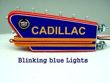 1-24 1-18 Scale Blue Blinking Sign For A 1950 Cadillac Dealership Garage Display
