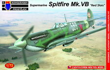 "Kovozavody Prostejov 1/72 Model Kit 7268 Supermarine Spitfire Mk.VB ""Red Stars"""