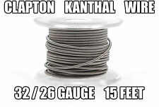 CLAPTON KANTHAL WIRE 26 / 32 Gauge 15 Feet Coil Building Sub Ohm Mechanical Mod