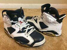 Nike Air Jordan 6 VI Retro White/Navy Olympic Size 8 (384664-130) FREE SHIPPING!