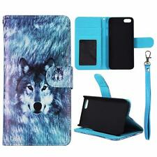 Wallet Husky Wolf For Iphone 5 , 5S Syn Leather Folio Case Cover