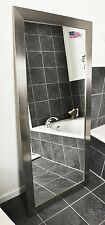 Mirror Full Length Beveled Framed Large Long Body Silver Floor Wall Bathroom LR