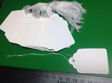 LOT 100 Large Strung Scallop Price Tags 5.5 x 3.5cm Merchandise Jewelry Size 7